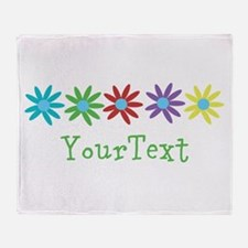 Personalize Flowers Throw Blanket