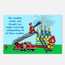 Firemen Birthday Postcards (package Of 8)