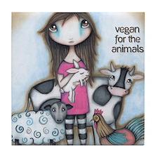 Vegan for the Animals Tile Coaster