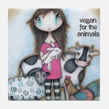 Vegan for the Animals Tile Coaster