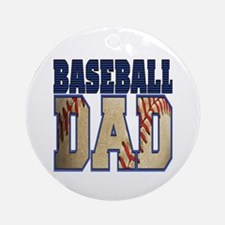 Cute Baseball dad Round Ornament