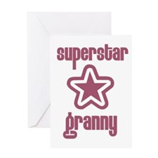 Superstar Granny Greeting Card