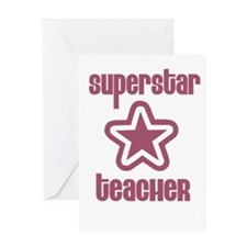 Superstar Teacher Greeting Card