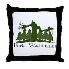 Forks, WA Throw Pillow