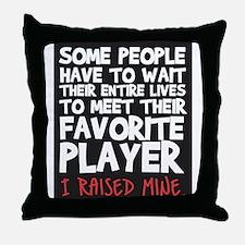 raised fav player Throw Pillow