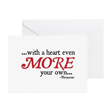 Jane Austen Heart more Cards (Pk of 10)