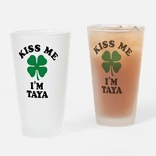 Funny Taya Drinking Glass