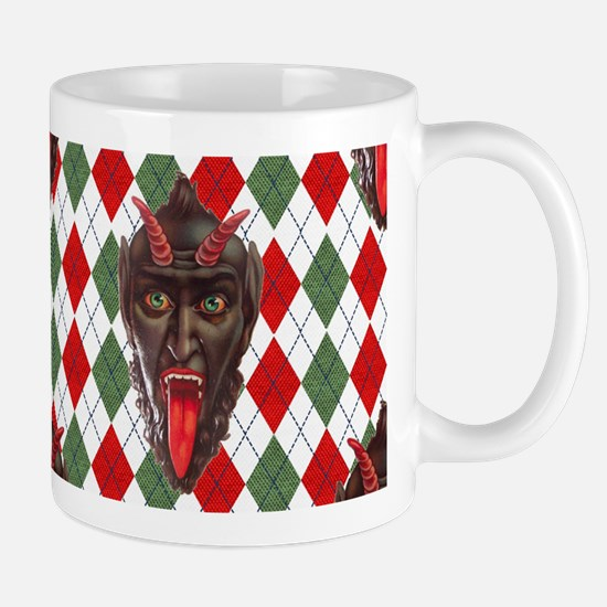 plaid monster krampus Mugs