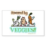 Powered by Veggies Rectangle Sticker