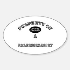 Property of a Paleobiologist Oval Decal