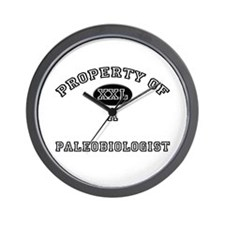 Property of a Paleobiologist Wall Clock