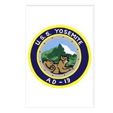 USS Yosemite (AD 19) Postcards (Package of 8)