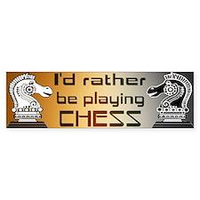 BEAR - Chess - Bumper Bumper Sticker