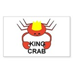 KING CRAB Rectangle Sticker