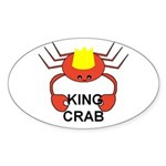 KING CRAB Oval Sticker