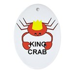 KING CRAB Oval Ornament