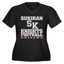 Sukiran Knights Women's Plus Size V-Neck Dark T-Sh