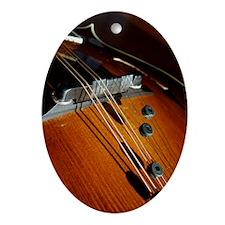 Mandolin Color Oval Ornament
