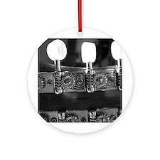 Mandolin Pegs Ornament (Round)