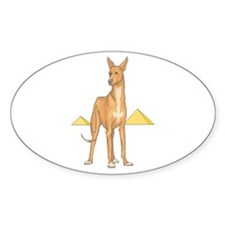 Pharoah Hound Oval Decal