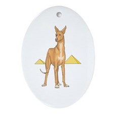 Pharoah Hound Oval Ornament
