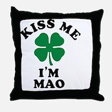 Funny Mao warhol Throw Pillow