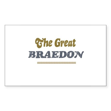 Braedon Rectangle Sticker