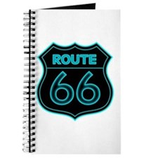 Route 66 Neon - Teal Journal