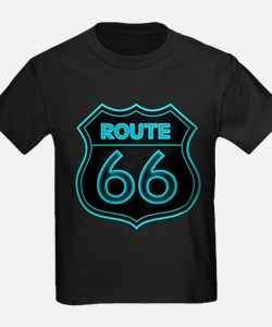 Route 66 Neon - Teal T
