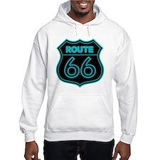Route 66 Neon - Teal Hoodie