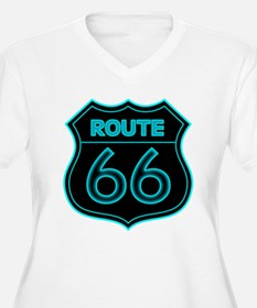 Route 66 Neon - Teal T-Shirt
