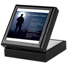 NEW! Airman's Creed Keepsake Box