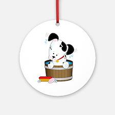 Doggie Bath Ornament (Round)