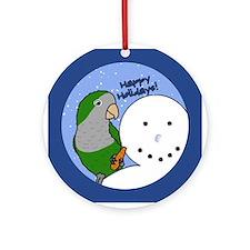 Snowman Quaker Parakeet Christmas Ornament