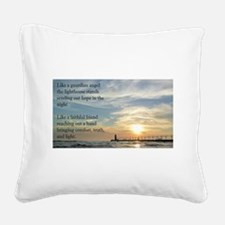 Lighthouse, friend Square Canvas Pillow