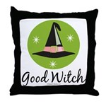 Witches Hat Good Witch Throw Pillow