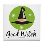 Witches Hat Good Witch Tile Coaster