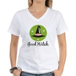Witches Hat Good Witch Women's V-Neck T-Shirt