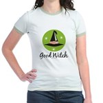 Witches Hat Good Witch Jr. Ringer T-Shirt