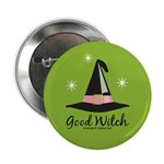 Witches Hat Good Witch Button