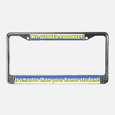 Honor Student Quaker Parakeet License Plate Frame