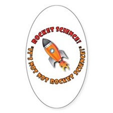 Rocket Science! Oval Decal