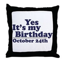 October 24th Birthday Throw Pillow