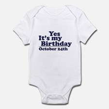 October 24th Birthday Infant Bodysuit