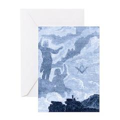Masonic Magic Reflections Greeting Card