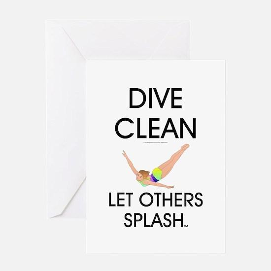 Dive Clean Greeting Card