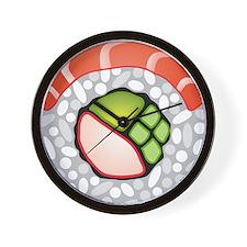 Round Sushi Wall Clock