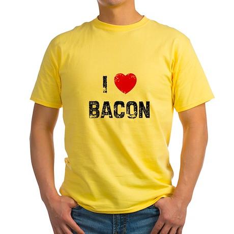 I * Bacon Yellow T-Shirt