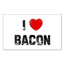 I * Bacon Rectangle Decal