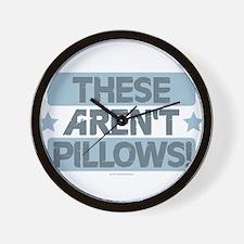 These Aren't Pillows - Blue Wall Clock